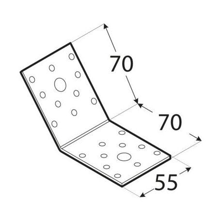 Uholník 135° rovnoramenný KLR