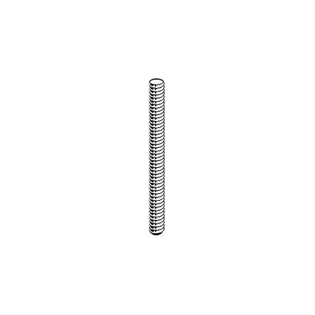 Závitová tyč, 1m, DIN 975, oceľ tr. 4,6, biely zinok