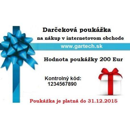 Darčeková poukážka gartech.sk 200€