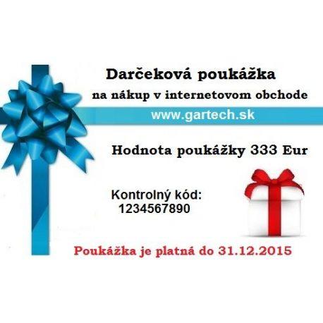 Darčeková poukážka gartech.sk 333€