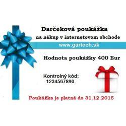 Darčeková poukážka gartech.sk 400€
