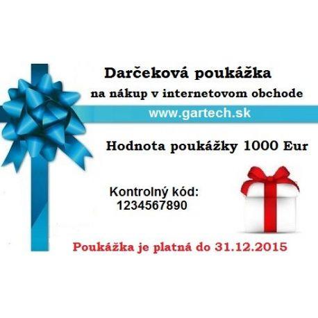 Darčeková poukážka gartech.sk 1000€